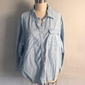 Ralph Lauren Jeans Chambray Button Up Shirt
